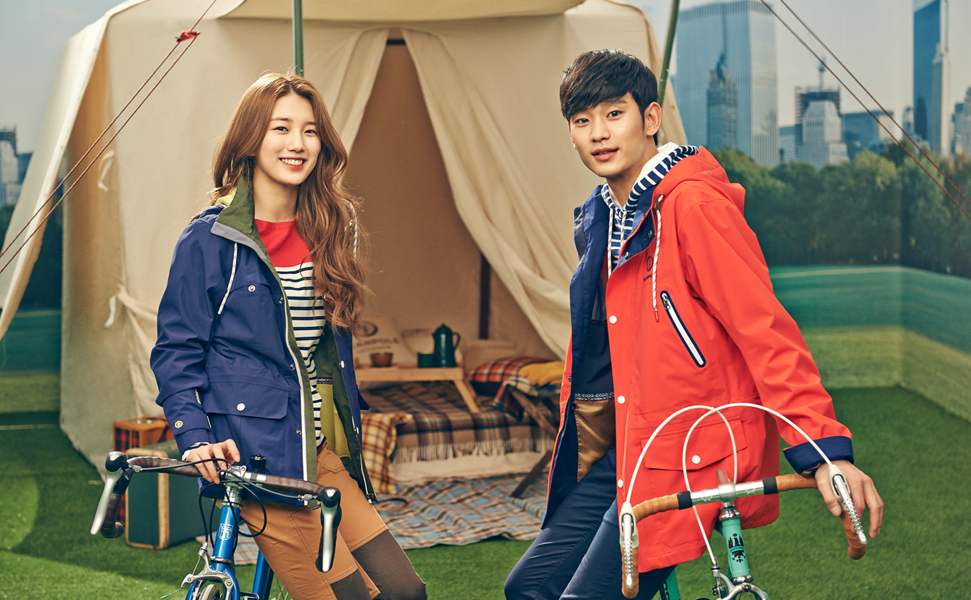 Kim Soo Hyun and miss A's Suzy for Bean Pole Outdoor Spring/Summer ...