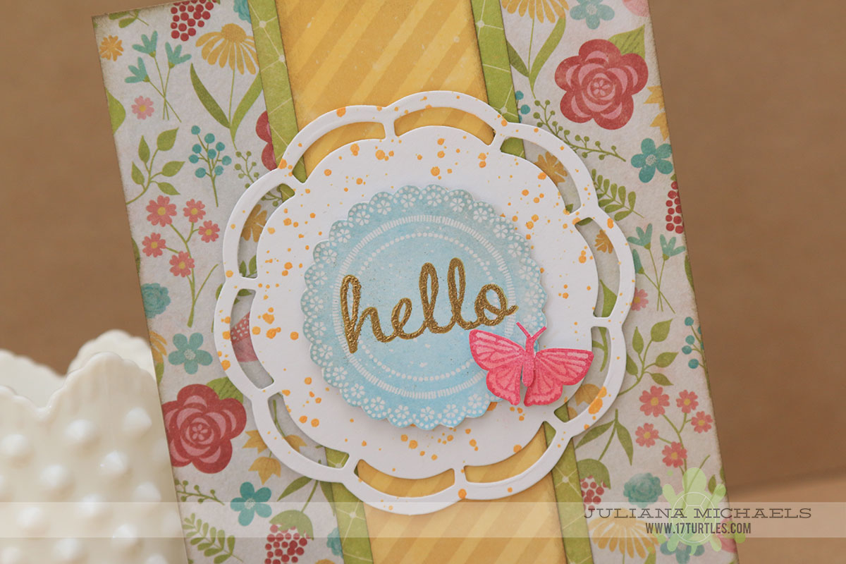 Sneak Peek Hello Card by Juliana Michaels featuring Jillibean Soup for Scrapbook Generation's Create Magazine March 2015