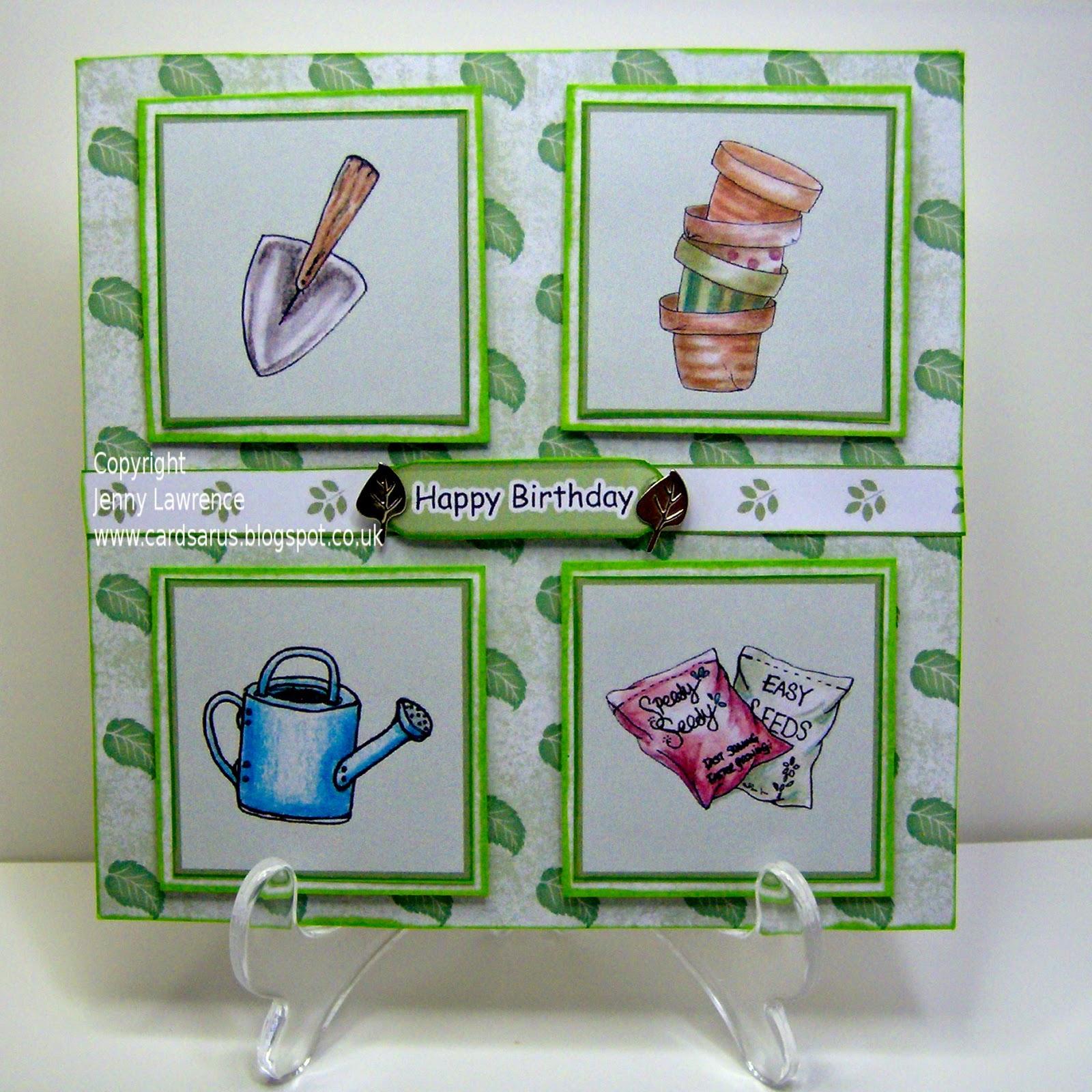 Cardsarus Snippets Gardening Birthday Card
