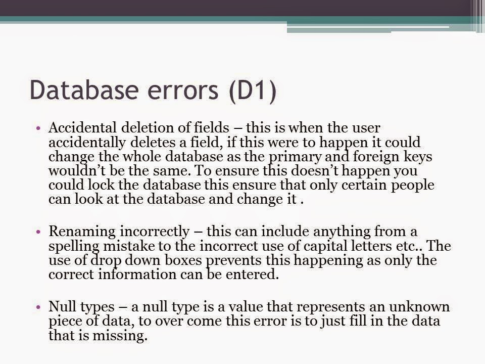 database design p1 m1 d1 Manipulate data management software to produce information in a suitable  format unit introduction  (p1, p2, p3, m1 and d1 are linked) for p2 learners  will.
