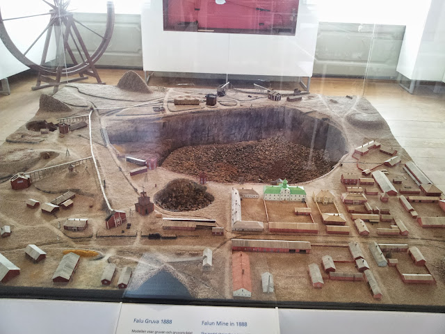 a model of the Falu Gruva / Mines in Falun, Sweden