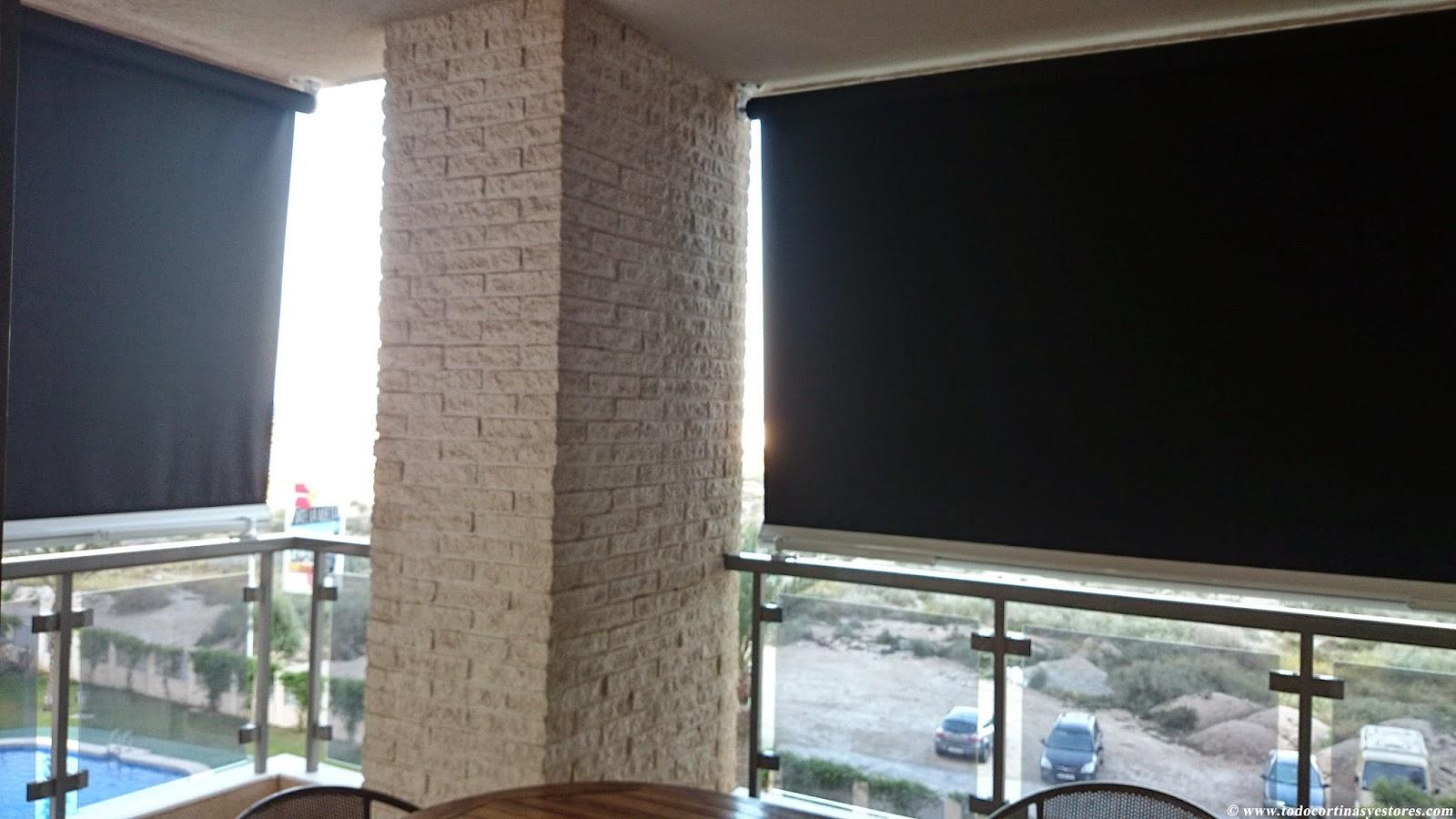 Decoracion interior cortinas verticales estores for Toldos verticales para terrazas