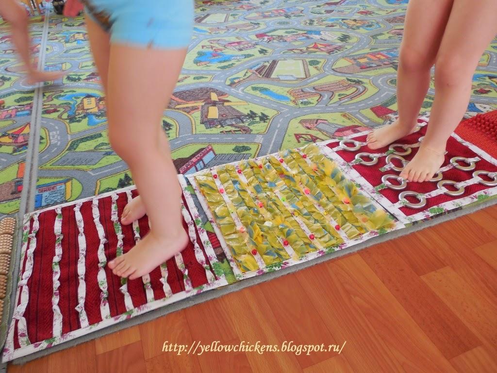 Как сделать массажный коврик для ног для ребенка