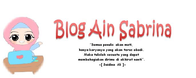 ~Blog Ain sabrina~