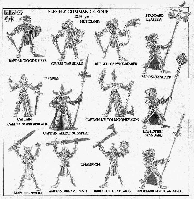 Grupo de mando de Elfos Silvanos