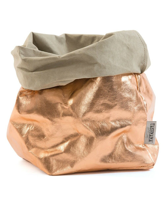 Uashmama Paper Bag Metallic Rose