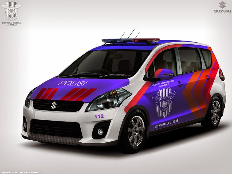 Modifikasi Mobil Suzuki Ertiga Polisi