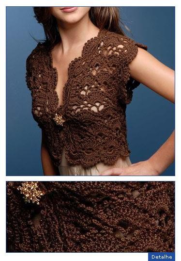 Bolero crochet de dama