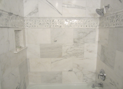 Client Shower And Bath Tile Layout