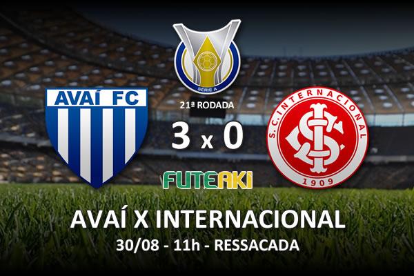 Veja o resumo da partida com os gols e os melhores momentos de Avaí 3x0 Internacional pela 21ª rodada do Brasileirão 2015.
