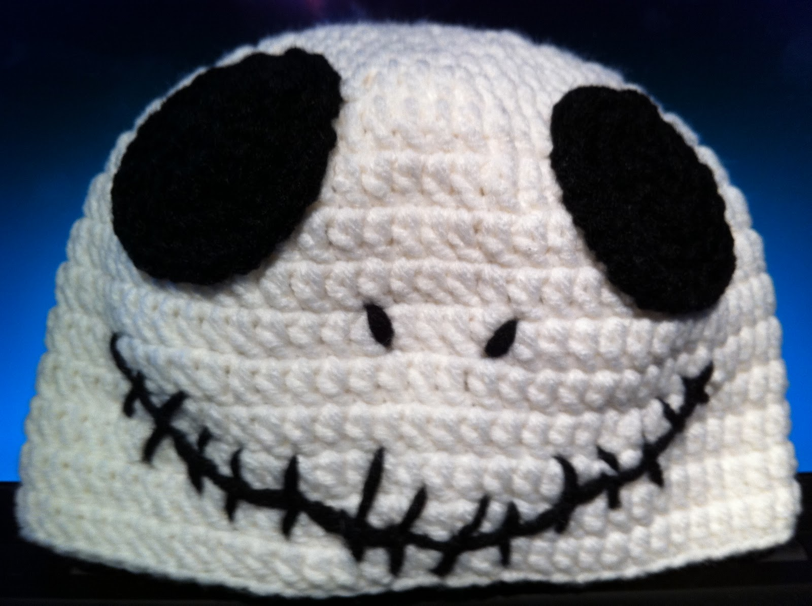 Crochet Pattern For Jack Skellington Hat : pink yeti: Jack Skellington baby hat