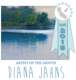 Diana Jahns | Artist of the Month | March 2015 | on California Peach