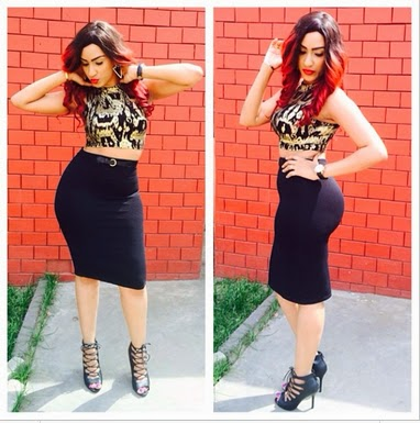 Flawless...Juliet Ibrahim Stuns In Curve Hugging Skirt