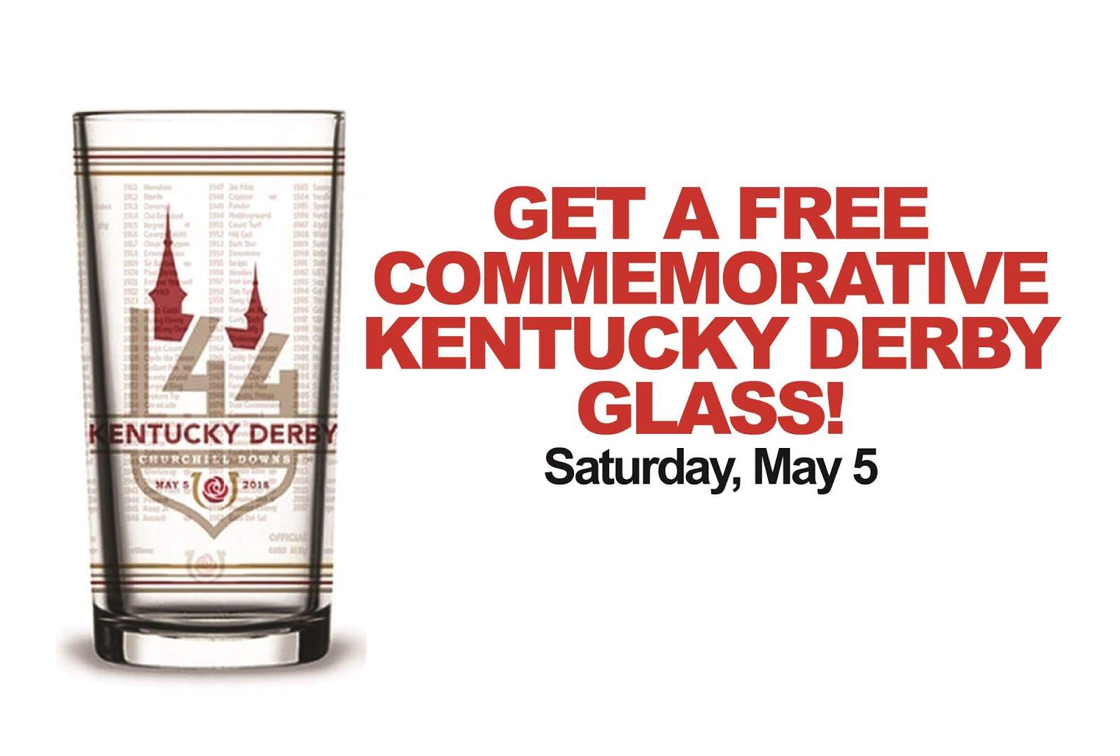 Free Kentucky Derby Glass