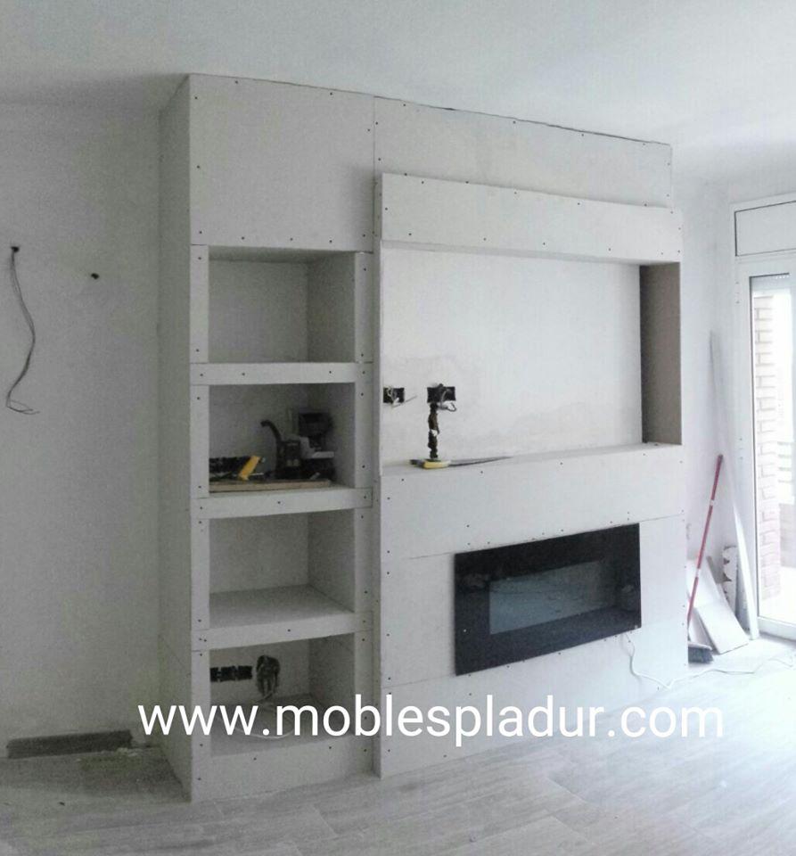 Pladur barcelona mueble televisi n - Mueble para chimenea electrica ...