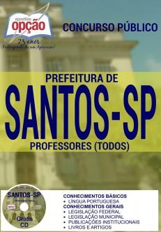 Apostila Concurso Prefeitura de Santos - SP - Professor - 2016