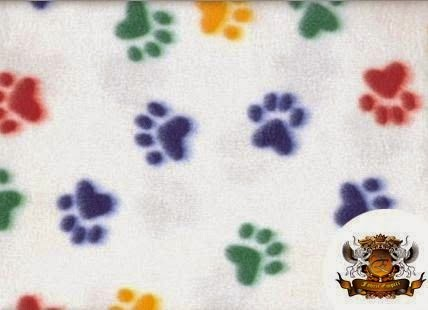 Paw print fleece fabric for pet beds