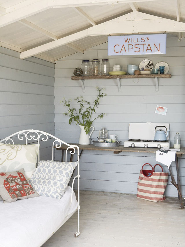 decoración  interior en un refugio cottage vista office