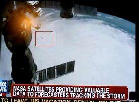 NASA detecta un ovni cuando observaba huracán Irene