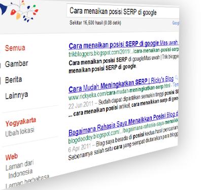 Cara menaikan posisi SERP google