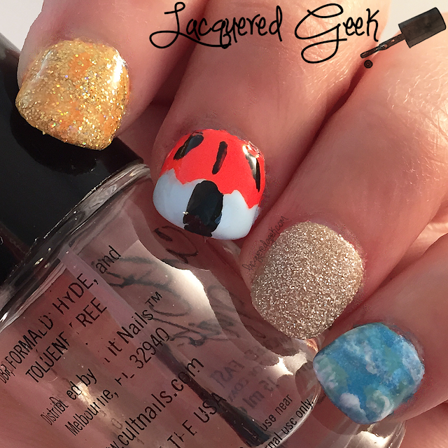 Beach nail art by Lacquered Geek