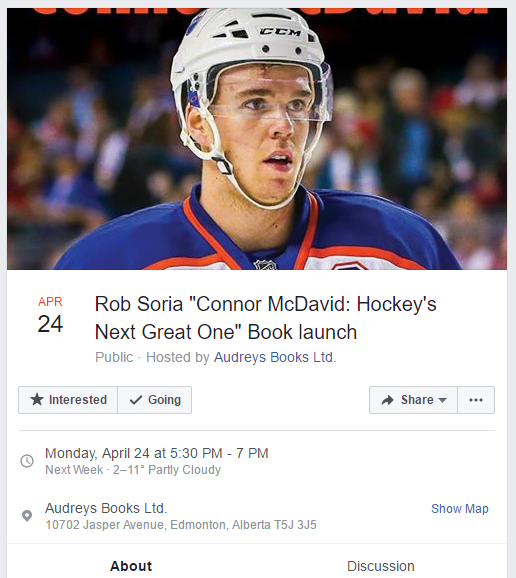 Connor McDavid Book Launch
