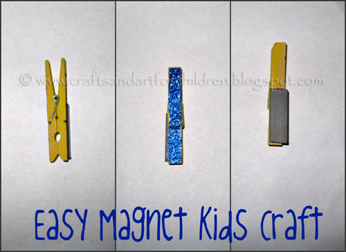 Easy Magnet Kids Craft