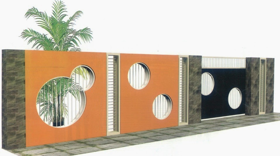 contoh gambar pagar tembok minimalis