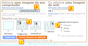 colocando imagem ou figura do pc no post do blogspot com editor antigo