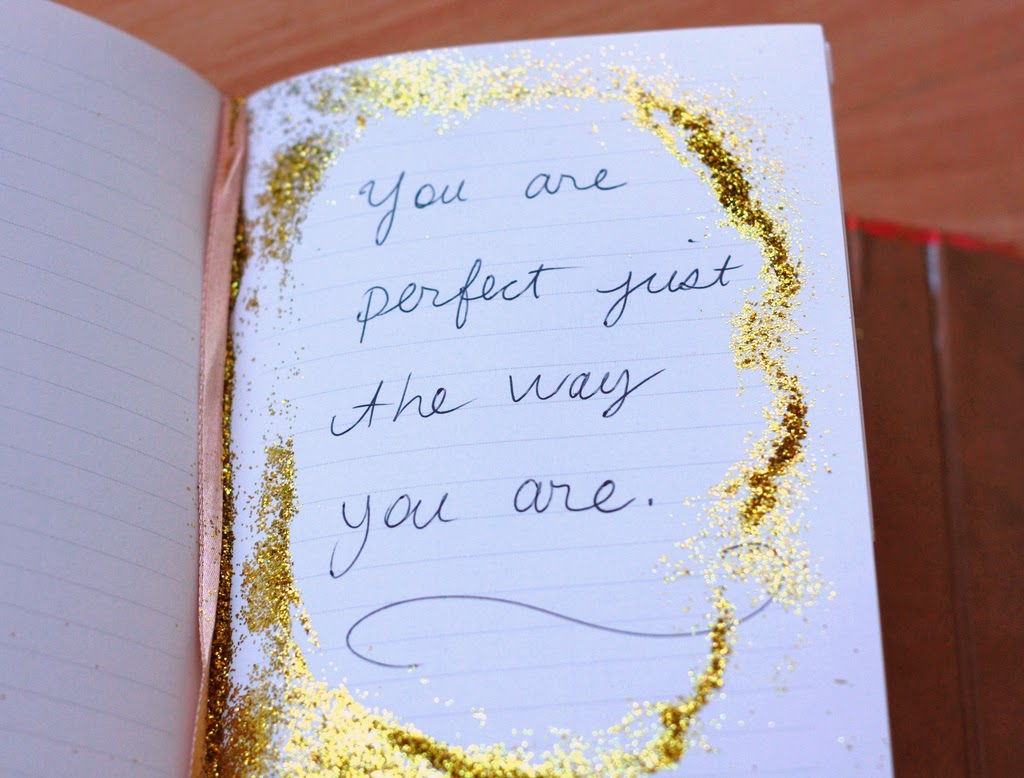 You Are Perfect Message Notepad Glitter