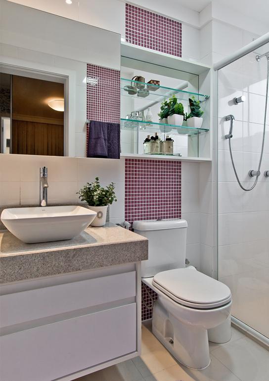 BANHEIROS PEQUENOS MODERNOS 4 ESTILOS + 25 FOTOS  Decor Alternativa -> Banheiros Modernos Pastilhados