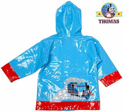 Stylish childrens wet gear raincoat blue Thomas cartoon picture logo will provide an exclusive look