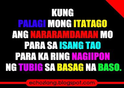 Para ka ring nag-iipon ng tubig sa basag na baso.