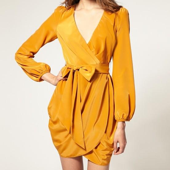 Wrap Necklines/Dresses