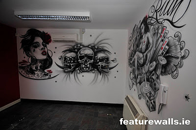 Airbrush creative touch art mural dinding airbrush for Airbrush mural painting