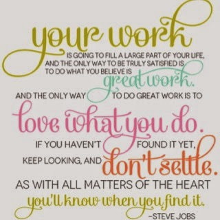 Love your work quote