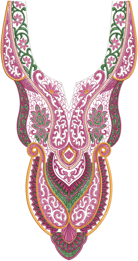 Latest A-Z Neck Embroidery Designs ~ Embdesigntube