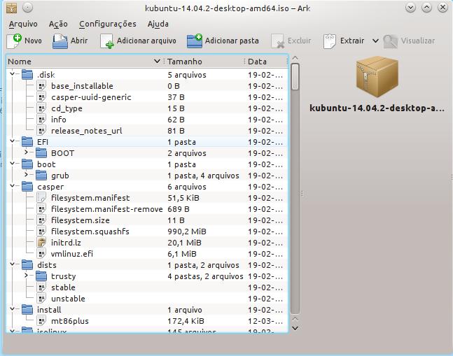 imagem de exemplo do Kubuntu