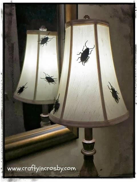 Halloween bug lamp shades