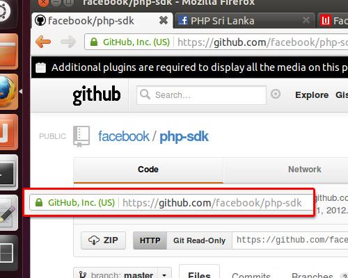facebook php sdk on github
