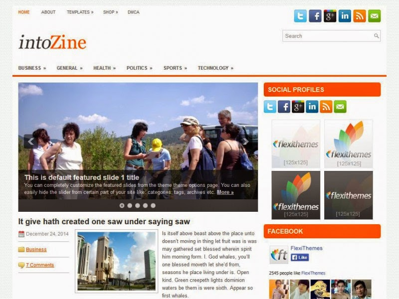 IntoZine - Free Wordpress Theme