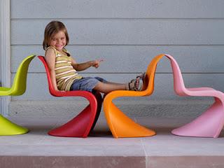 disseny cadira per nens de Vitra Panton Chair