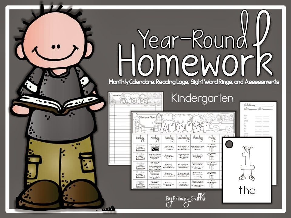 http://www.teacherspayteachers.com/Product/Year-Round-Kindergarten-Homework-951037