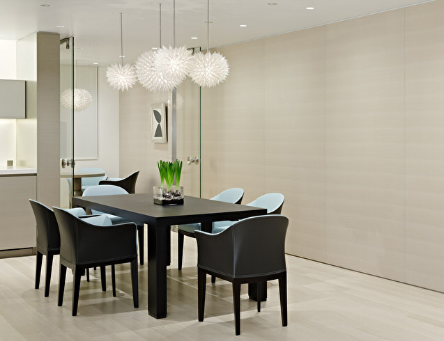 Modern dining room lighting design ideas and trends for Modern dining room table decor