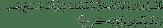 Surat Al Mu'min Ayat 55