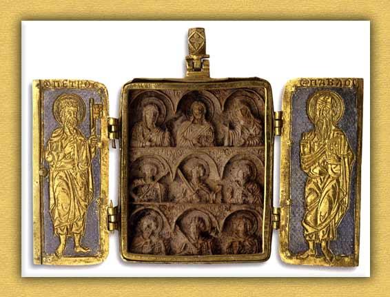 Βυζαντινό τρίπτυχο εγκόλπιο της Ιεράς Μονής Βατοπαιδίου Αγίου Όρους