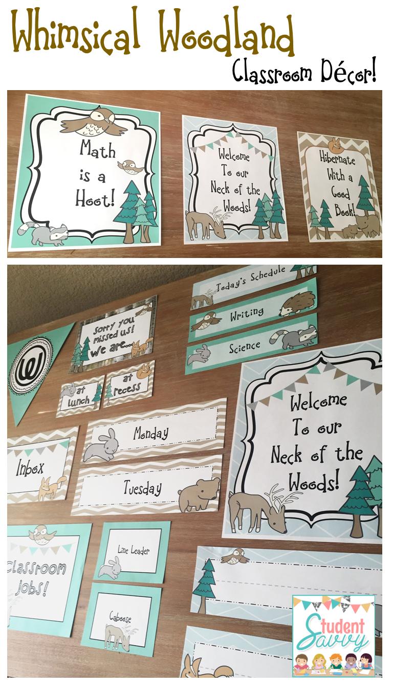 Editable Classroom Decor ~ Studentsavvy classroom decor giveaway