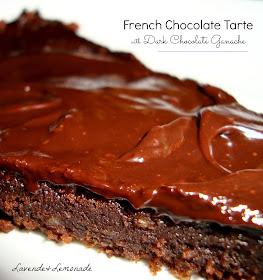 French chocolate tarte with dark chocolate ganache     Lavende & Lemonade