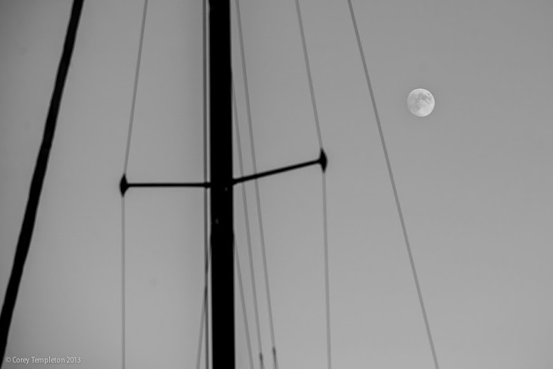 Portland, Maine Moon & Mast. Photo by Corey Templeton.