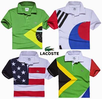 polos Lacoste coleção países para a Copa do Mundo 2014